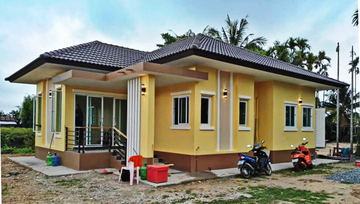 These three small house design has an area under 90 square meters to build. These houses have 3 bedrooms, 2 bathrooms, a kitchen, and a living room. If you are someone looking for a small house, then these houses could be it.