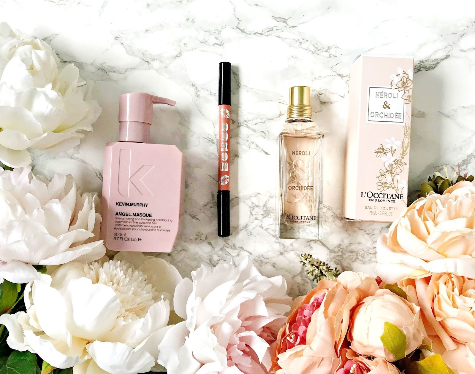 Kevin Murphy Angel Masque Review, Buxom PlumpLine Lip Liner Review, L'Occitane Neroli & Orchidée EDT review