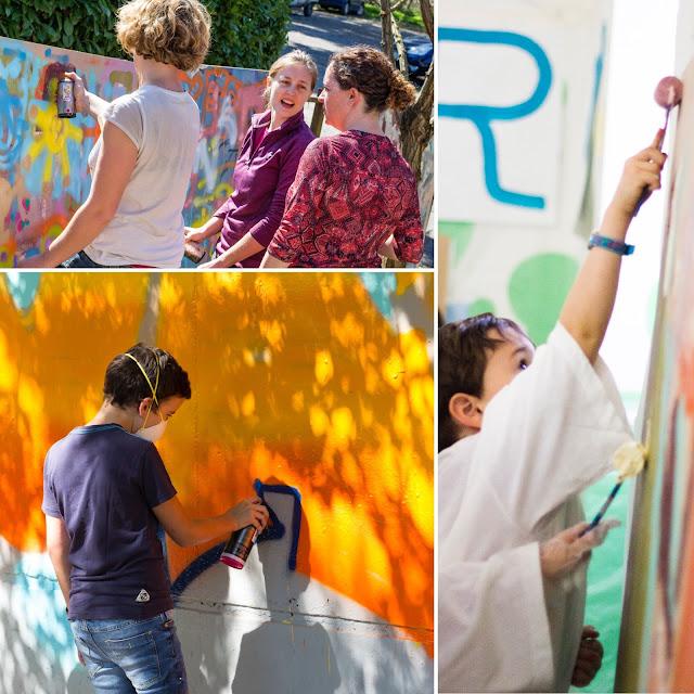 photos des ateliers graffiti et street-art à Toulouse