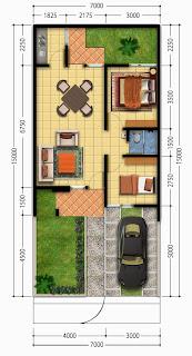 Denah Rumah Minimalis Type 36'