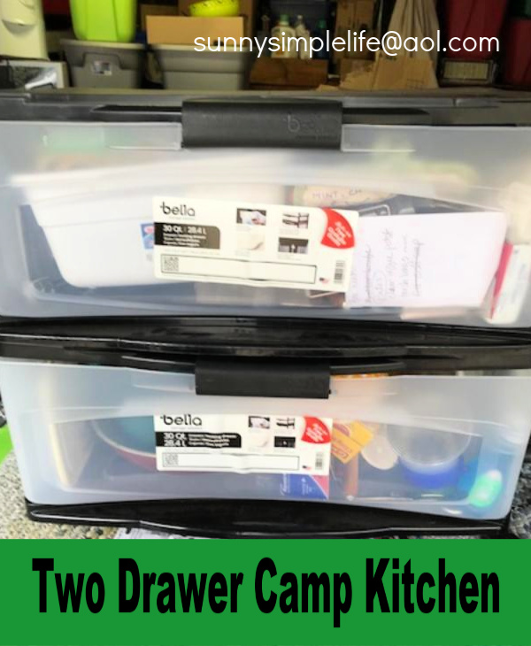 Sunny Simple Life: My Camp Kitchen Box