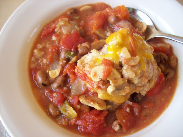 Tomato Stew with Cheese Dumplings