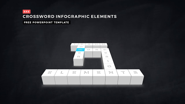 Crossword Puzzles Infographic Elements for PowerPoint Templates with Dark Background Slide 11