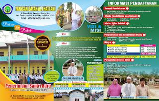 Penerimaan Santriwan dan Santriwati Baru Tahun Pelajaran 2018 / 2019
