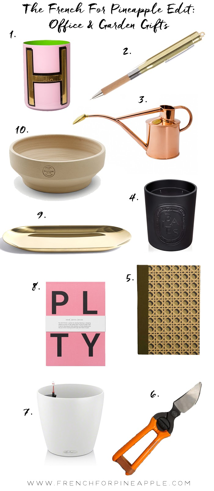 French For Pineapple Blog - Office & Garden Gift Guide