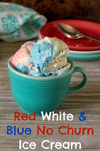 This festive red, white and blue ice cream is easy to make and no-churn so you don't even need an ice cream maker!