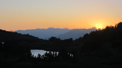 Sunset over Deer Lakes