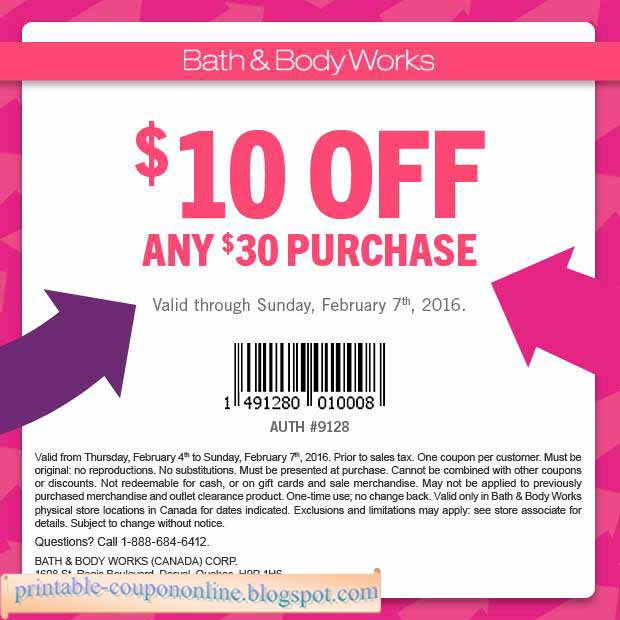 Bath and body works online coupons 2018