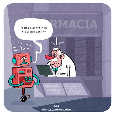 robot, lubricantes, Humor Carolo, Jarúl, Humor gráfico dominicano, yosoyjarul, jarúl ortega, jarul, barriga creativa, humor carolo,