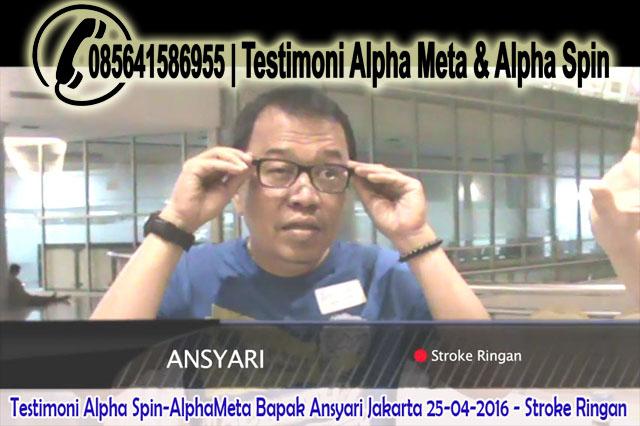 AlphaMeta & Alpha Spin | Testimoni  Stroke Ringan | Bapak-Ansyari Jakarta