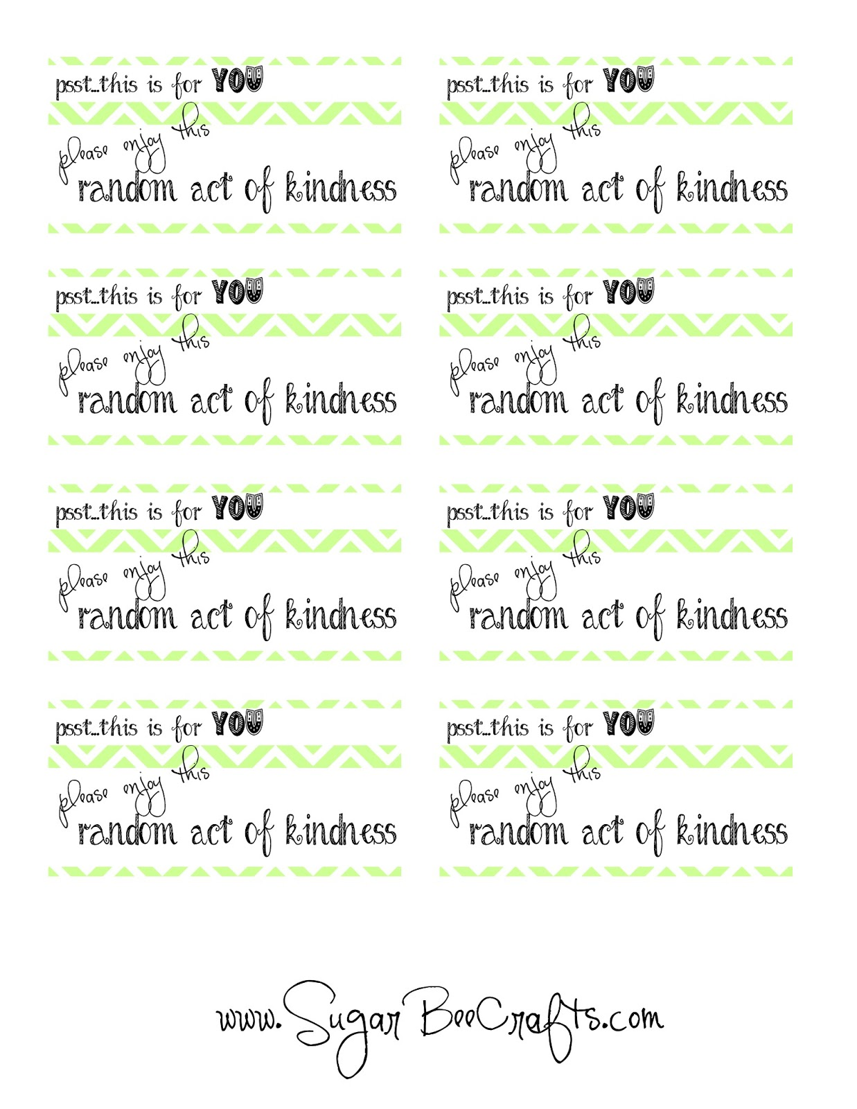 graphic relating to Random Act of Kindness Printable identify ROAKDIY Recap - Random Functions of Kindness - Sugar Bee Crafts