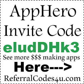 App Hero Invitation Code 2017, App Hero Referral Codes 2017, App Hero Sign Up Bonus