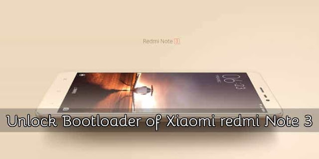unlock bootloader redmi note 3