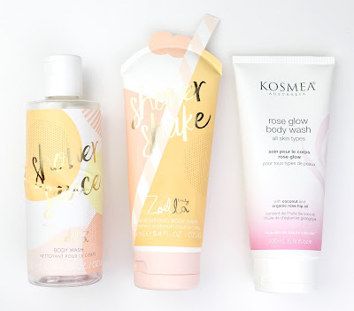 Zoella Beauty Shower Sauce Body Wash Shower Shake Kosmea Rose Glow Body Wash Review
