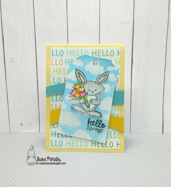 Hello Spring by Diane features Cloudy Sky, Land Borders, and Hello Spring by Newton's Nook Designs; #newtonsnook