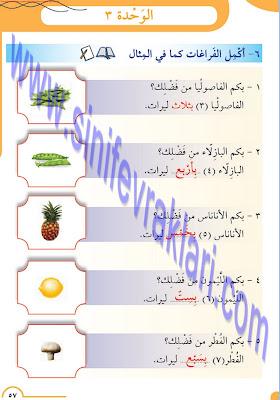8. Sınıf Arapça Meb Yayınları Ders Kitabı Cevapları Sayfa 57