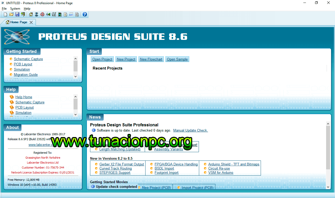 Proteus Professional v8.6 SP2 Build 23525