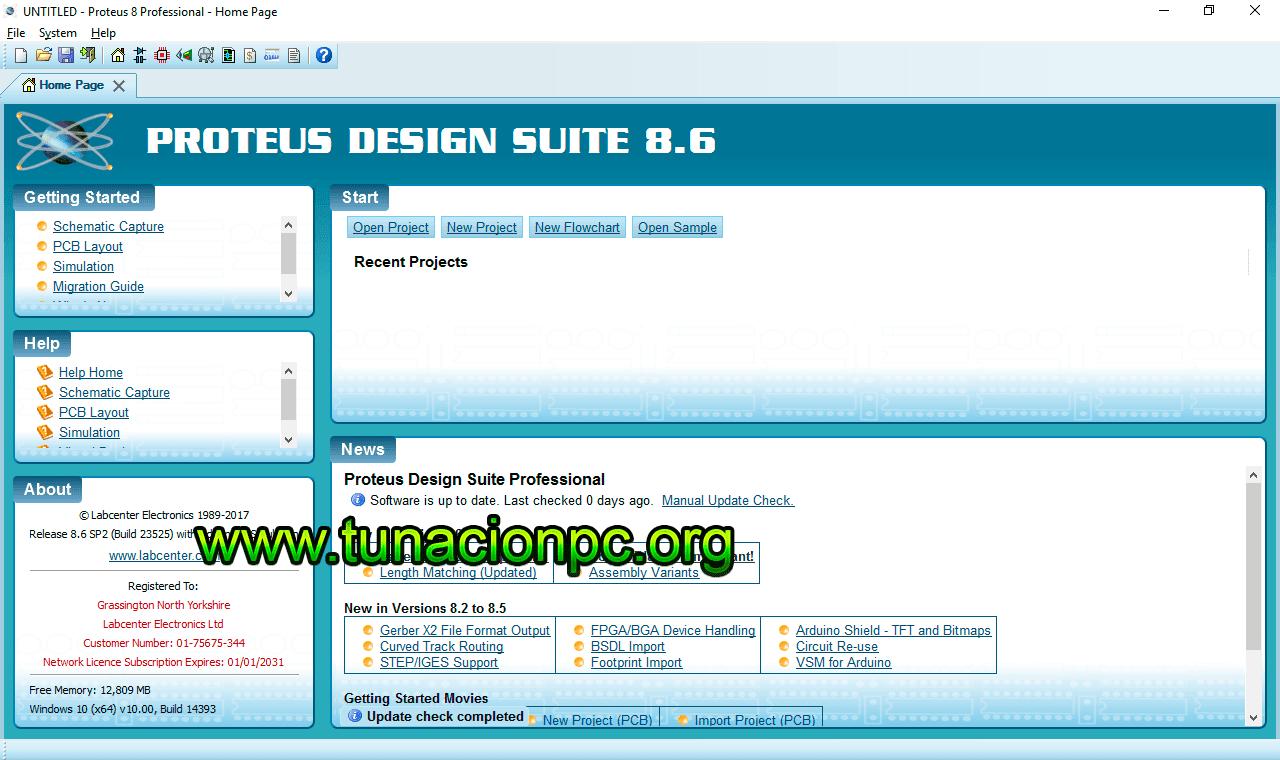 Proteus Professional v8.6 SP2 Build 23525 Imagen