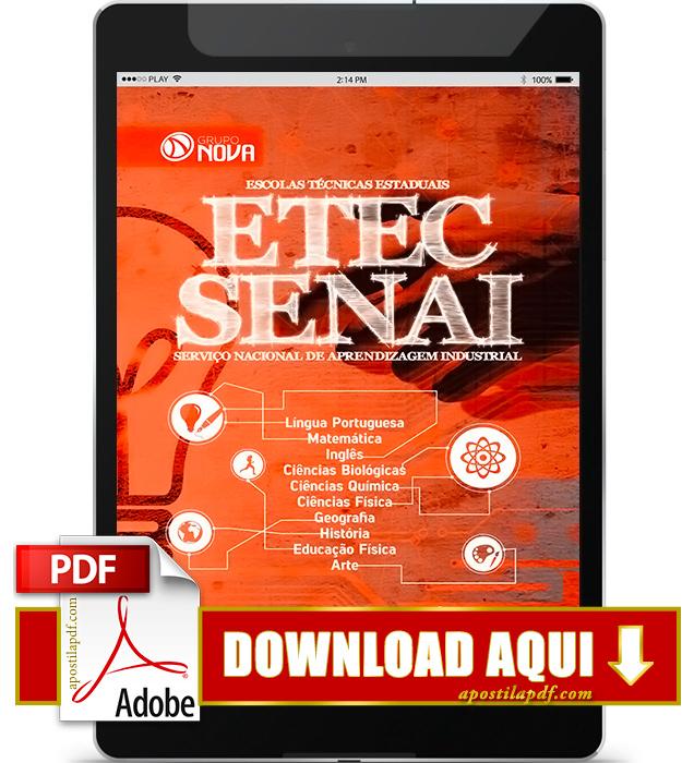 Apostila ETEC 2016 PDF Apostila Vestibulinho ETEC 2016 PDF