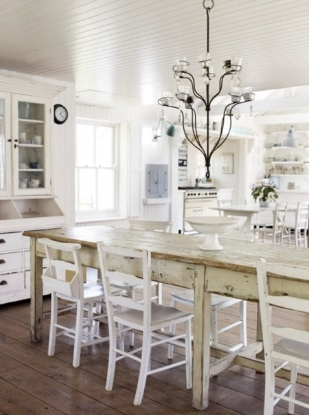 Natural modern interiors how to decorate the modern for Country style dining room