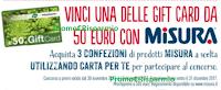 Logo Misura e Pam Panorama ti regalano 130 Gift Card da 50€