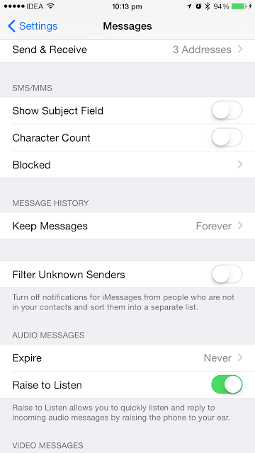 How to Automatically Delete Old SMS Messages or iMessages on an iPhone running iOS 8