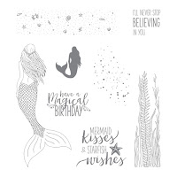 This image shows the images in the Magical Mermaid stamp set by Stampin' Up