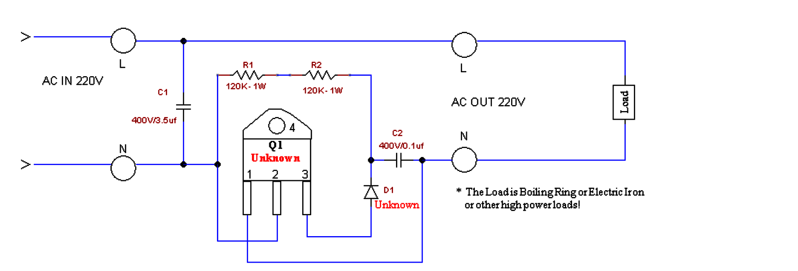 Generator Mains Power Booster Circuit