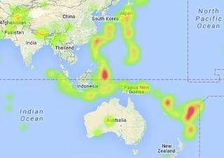 heatmap titik-titik gempa