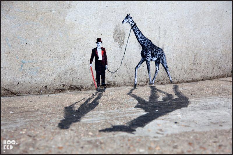 Mexican Street Artist Pablo Delgado miniature street art in London