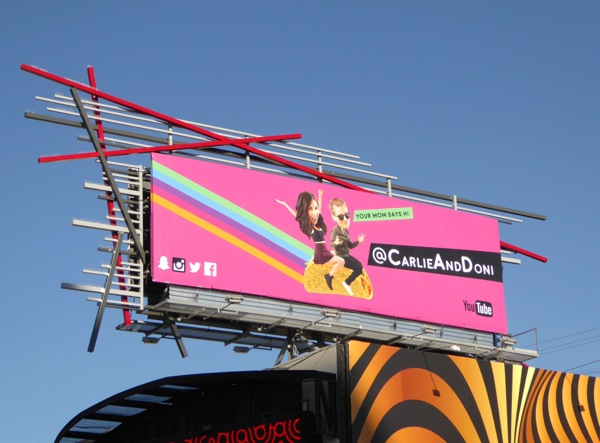 Carli and Doni billboard