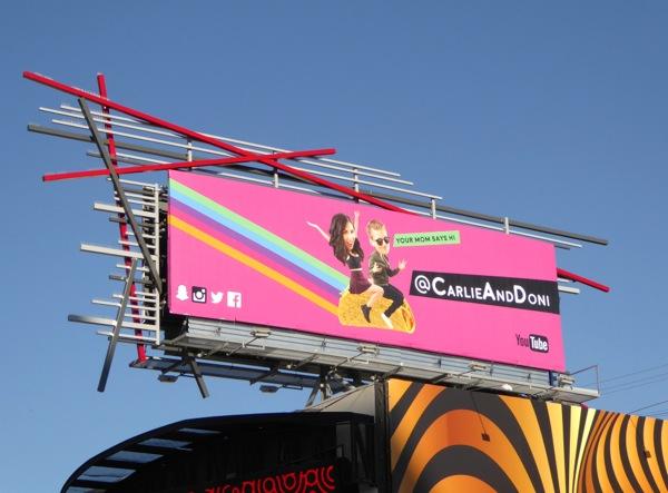 Carli and Doni billboard