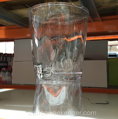 Easily grab a drink with the CreativeWare Acrylic Beverage Dispenser