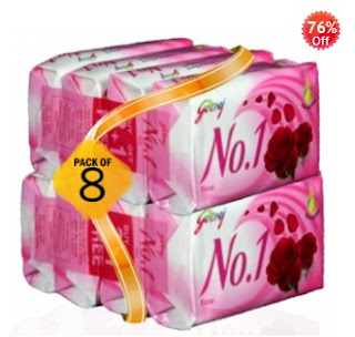 Buy Godrej No.1 Soap – Set of 8 worth Rs.80 just for Rs.38 (Including Shipping Charges)