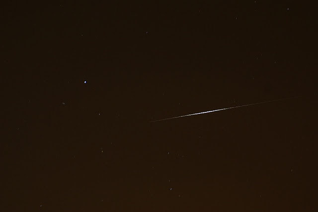 Iridium flare in the constellation Lyra