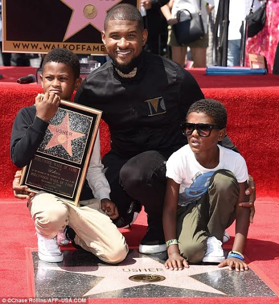 Usher Receives A Star On The Hollywood Walk Of Fame