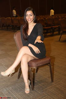 Kyra Dutta in black At Rogue Movie Audio Launch ~  039.JPG