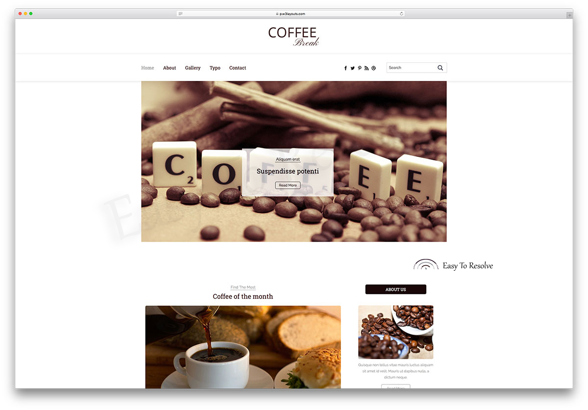 coffee break bootstrap template free download