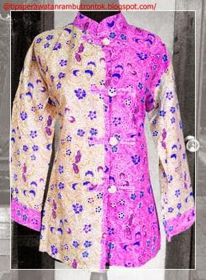 Contoh Model Baju Batik Wanita Modern Gambar Model Baju Batik Gamis
