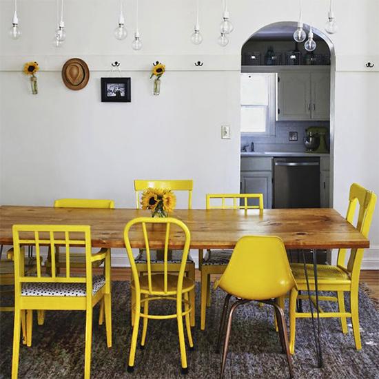 cozinha, copa, cadeiras coloridas, cadeiras, mesa de jantar, mesa da sala, mesa, sala de jantar, a casa eh sua, decor, decoracao, faça você mesmo, diy