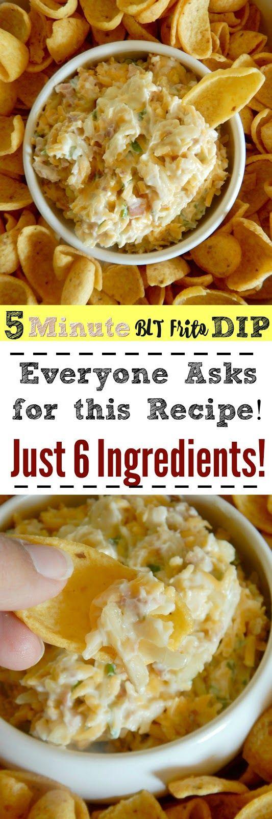 5 Minute BLT Frito Dip