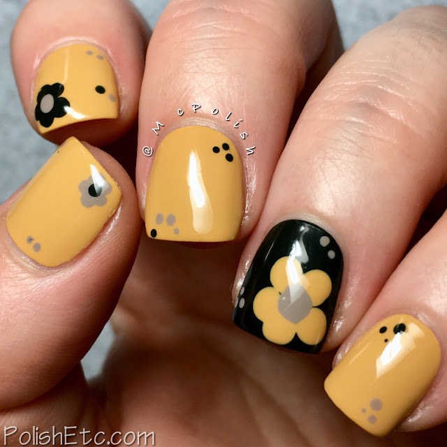 Yellow Nails for the #31DC2018Weekly - McPolish - retro dotticure