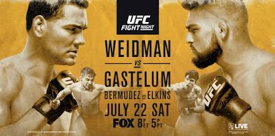 UFC on Fox 25: Weidman vs Gastelum - Horarios y Cartelera