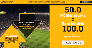 betfair supercuota clasico Barcelona vs Real Madrid 28 octubre