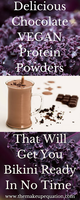 If you love chocolate, you must try these chocolate vegan plant powders.  These shake powders help you lose weight and stay energized. They will also get you ready for swimsuit season! #vegan #vegetarian #plantprotein #weightloss #veganprotein #healthy