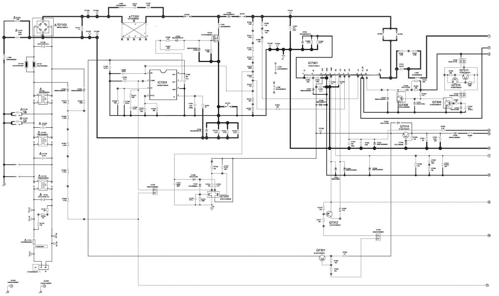 panasonic tv diagram
