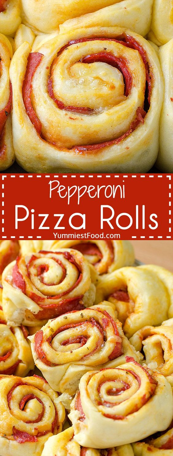 Pepperoni Pizza Rolls #pepperoni #pizza #pepperonipizza #rolls #easyrecipes #easypizzarecipes