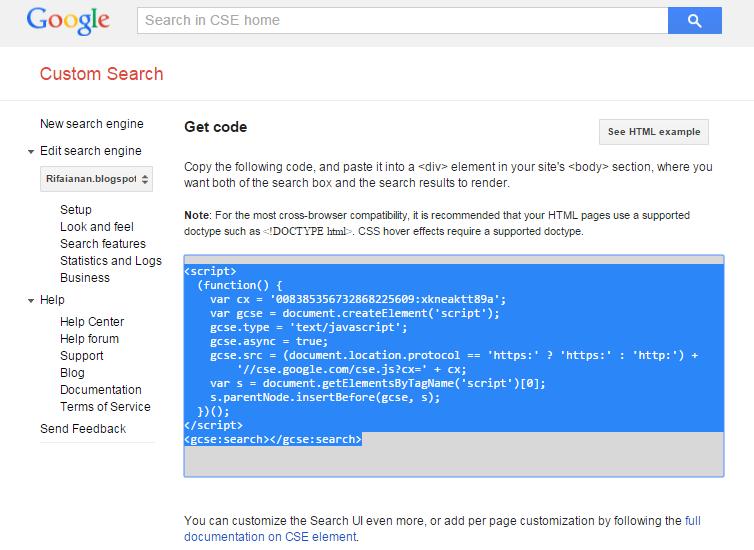 """Cara Membuat Google Custom Search / Pencarian di Blog - """"Welcome to my ..."""