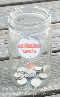 Onstage 2016 Savings Jar