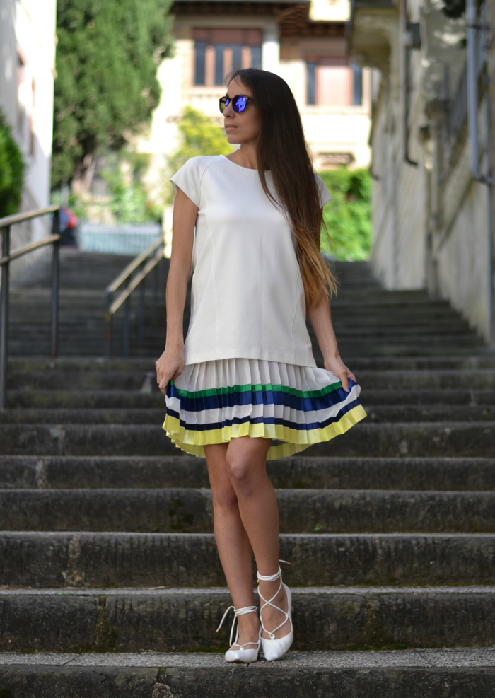 ballerine bianche outfit